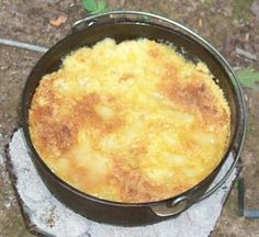 photo of Dutch oven peach cobbler - Photo © David Sweet lic. to About.com Inc.
