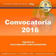 Ya está aquí  la convocatoria 2016 de la #BecaEducaTIC de @habitatPumaUNAM de la Coordinación de Tecnologías para la Educación de la Dirección General de Cómputo y de Información y Comunicación - UNAM.