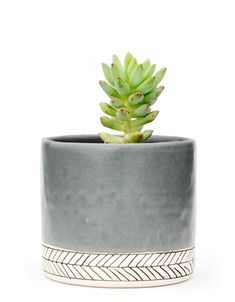 Herringbone Ceramic Planter