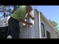 In this RV DIY® video host Mark Polk, with RV Education 101, demonstrates how to reseal RV corner molding using Seal-Tite™ Corner Seal by Seal Design an affi...