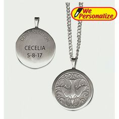 Holy Spirit Locket - Plain Boxed This piece of lovely Catholic jewelry, the Holy Spirit Locket, comes in silver oxidized brass on an chain. Catholic Confirmation, Catholic Bible, Rosary Catholic, Dove Symbolism, Catholic Jewelry, Holy Spirit, Dog Tag Necklace, Personalized Gifts, Chain