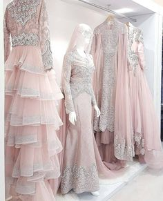 Muslimah Wedding Dress, Hijab Bride, Pakistani Bridal Dresses, Indian Dresses, Wedding Wear, Wedding Party Dresses, Simple Long Dress, Moslem Fashion, Cardigan Fashion