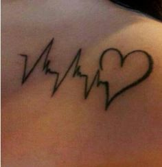 Love this heartbeat tattoo