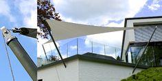Textiles Bauen - Sonnensegel an Masten und Seilen