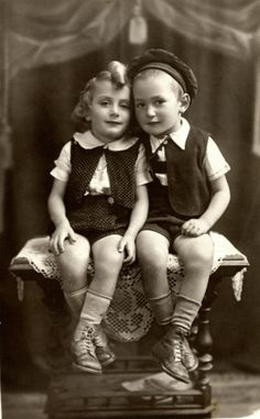 Studio portrait of Naftali and Michael Teichman, both of whom perished in Auschwitz three years later. B/W Photo Colourised by Pearse. Vintage Photographs, Vintage Photos, Persecution, Studio Portraits, Historical Photos, Vintage Children, Old Photos, Wwii, Feelings