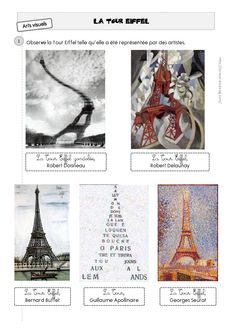 Paris et la tour Eiffel à travers Doisneau Caracolus Tour Eiffel Delaunay, France Eiffel Tower, 6th Grade Art, Ecole Art, Elements Of Art, French Art, Teaching Art, Elementary Art, Op Art