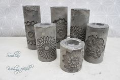 Smilla's feeling of well-being: DIY: concrete candle holder / cement candle holder. - Home Decor -DIY - IKEA- Before After Cement Art, Concrete Cement, Concrete Furniture, Concrete Crafts, Concrete Projects, Bougie Candle, Concrete Candle Holders, Beton Design, Papercrete