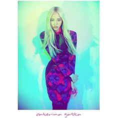 Soo Joo Embraces Kaleidoscopic Color for Caterina Gatta's Fall 2012... ❤ liked on Polyvore