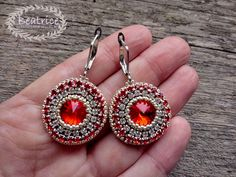 Crochet Earrings, Jewelry Making, Handmade, Hand Made, Jewellery Making, Make Jewelry, Handarbeit, Diy Jewelry Making