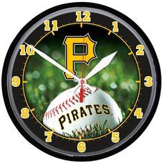 Pittsburgh Pirates Round Wall Clock