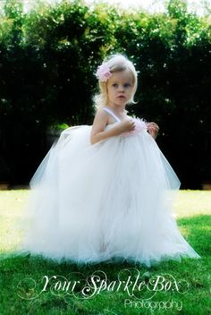 Tutu dress flower girl YourSparkleBox...I'd love Brynn to wear this when we get married!