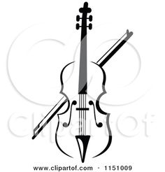 Violin Tattoo Designs | Pin Royalty Free Fiddle Clip Art Image Picture 150058 on Pinterest