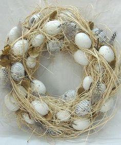 Loving this Grass & Egg Wreath on #zulily! #zulilyfinds