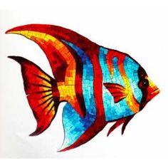 Discover thousands of images about Peces Mosaico Veneciano Nacional Importado Albercas Idd Fish Wall Art, Fish Art, Mosaic Crafts, Mosaic Projects, Mosaic Artwork, Ceramic Fish, Angel Fish, Arte Pop, Button Art