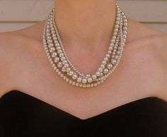 Chunky Pearl 4 Bridesmaids Statement by DeniseJewelryDesigns, $44.00