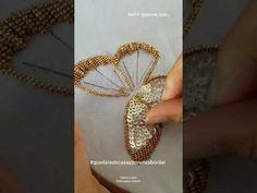 TUTORIAL 11 - Mariposa bordada en pedreria - YouTube Beaded Embroidery, Hand Embroidery, Embroidery Designs, Diy Tutu, Flower Chandelier, New Hobbies, Beaded Flowers, Needlepoint, Couture