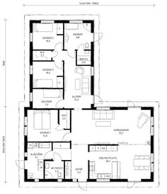 Cabin House Plans, 4 Bedroom House Plans, Cabin Homes, My Dream Home, Planer, Villa, Floor Plans, House Design, Flooring