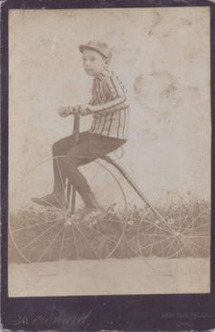 1880s-CABINET-CARD-PHOTO-NEWTON-FALLS-OH-BOY-ON-HIGH-WHEEL-TRICYCLE