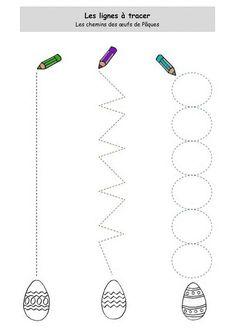 Easter Trace the Lines worksheet   Crafts and Worksheets for Preschool,Toddler and Kindergarten