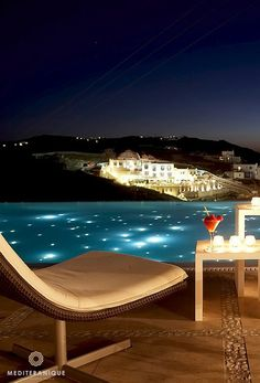 The infinity pool at the Bill & Coo Suites and Lounge in Mykonos, Greece