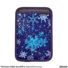 Christmas Night Snowfall iPad Mini Sleeves