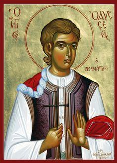 Ο Άγιος Οδυσσέας ο Νεομάρτυς. - stock photo