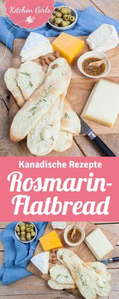 kanadische Käseplatte mit Rezept für Rosmarin Flatbread
