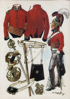 Life Guards, Officer, Waterloo, 1815 by P.