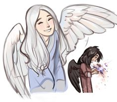 Little baby Manwe and Melkor omg they're so stinkin' cute!