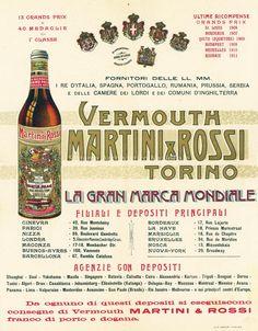 Martini & Rossi, manifesto pubblicitario, Torino 1912