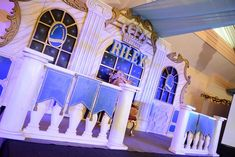 Riley's Royal Prince Themed Party – Stage Prince Birthday Theme, Set Design, Design Ideas, Beauty And The Beast Party, Royal Prince, 1st Birthdays, Baby Decor, Party Themes, Theatre