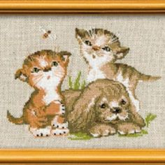 I checked out  Riolis Kit Point Compté Chiot et Chatons-Cross Stitch Kit Kittens and Puppy on Lish, € 8,10