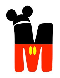 Mickey and Minnie Mouse Letters