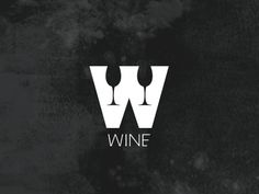 Wine designed by Ungrund. the global community for designers and creative professionals. Typography Logo, Lettering, Winery Logo, Wine Qoutes, Bar Logo, Red Wine Glasses, Wine Signs, Wine Bottle Opener, Pinot Noir Wine