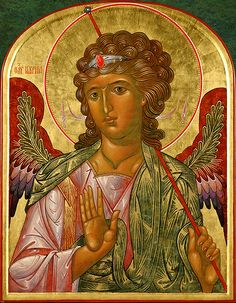 Icon Gallery — Prosopon School of Iconology Archangel Raphael, Archangel Gabriel, Religious Icons, Religious Art, Funny Baby Memes, School Icon, Religious Paintings, Byzantine Icons, Principles Of Art