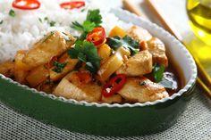 Kurczak po indyjsku z chilli i ananasem