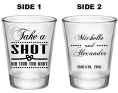50x Take A Shot We Tied The Knot Nautical Style by ThatWedShop
