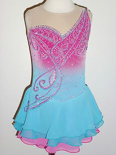 BEAUTIFUL & LOVELY ICE SKATING DRESS SIZE CUSTOM MADE TO FIT