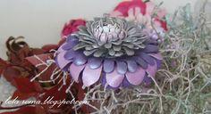 Мастер-класс: цветок из кожи - хризантема.