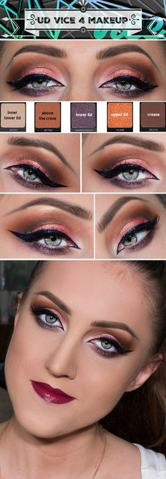 fall makeup using urban decay vice 4