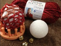 How to Loom Knit   Ornament or a Decorative Ball - YouTube