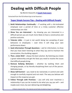 One of the most difficult tasks in event staff management is dealing with difficult people. Here is a checklist to help you do so! http://image.slidesharecdn.com/supersimplesuccesstips-dealingwithdifficultpeople-100721072946-phpapp01/95/slide-1-728.jpg?1279794008