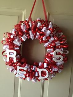 Cincinnati Reds Ribbon Wreath!