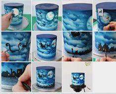 Airbrushed cake tutorial