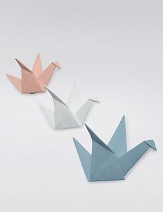 3 Origami Swans Wallmount | M&S