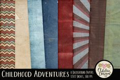 Childhood Adventures Textures by Clikchic Designs on Creative Market