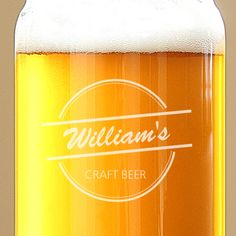 Northwest Gifts - Home Brew Beer Can Glasses Personalized (Set of 4), $49.00 (http://northwestgifts.com/home-brew-beer-can-glasses-personalized-set-of-4/)