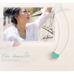 mint heart necklace| $1.38  kawaii pastel larme kei gyaru hipster fachin heart necklace jewelry accessories under10 under20 under30 free shipping rosegal