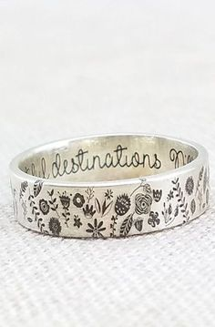 Personalized Ring - Sterling Silver