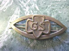 Vintage Girl Scout Barrette Girl Scout Emblem